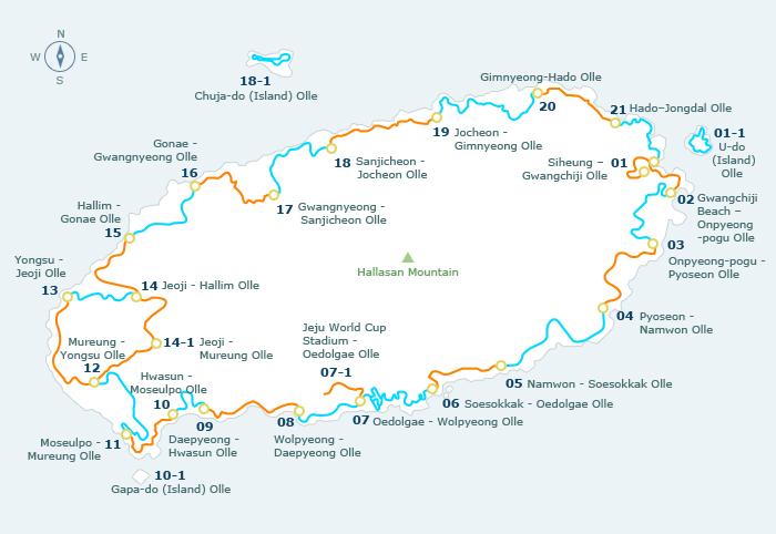 Vào mùa thu, khi những cây Ngân Hạnh trên đảo đồng loạt thay lá cũng là lúc đường  mòn Jeju Olle đón tiếp nhiều du khách nhất.